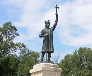 Monument de Etienne le Grand (Stefan cel Mare),  Chisinau, Moldavie.